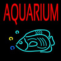 Red Aquarium Fish Logo Neon Sign