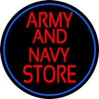 Red Army And Navy Store Neon Sign