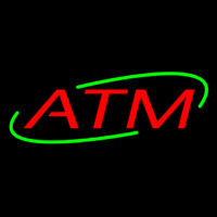 Red Atm Neon Sign