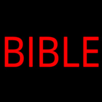 Red Bible Block Neon Sign