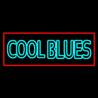 Red Border Cool Blues Neon Sign