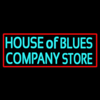 Red Border House Of Blues Company Store Neon Sign