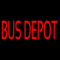 Red Bus Depot Neon Sign