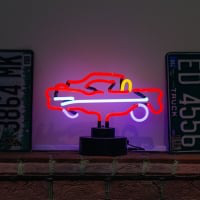 Red Car Desktop Neon Sign