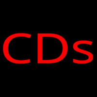 Red Cds Neon Sign