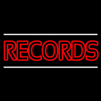 Red Colored Records Neon Sign