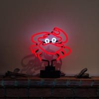 Red Crab Desktop Neon Sign