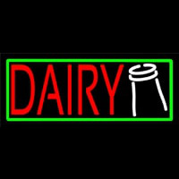 Red Dairy Neon Sign