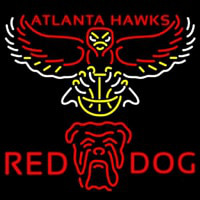 Red Dog Atlanta Hawks NBA Neon Beer Sign Neon Sign