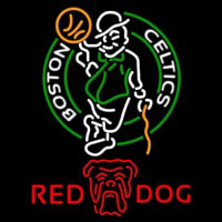 Red Dog Boston Celtics NBA Beer Sign Neon Sign