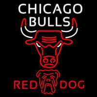 Red Dog Chicago Bulls NBA Beer Sign Neon Sign