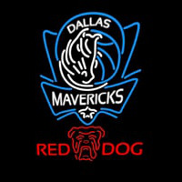 Red Dog Dallas Mavericks NBA Beer Sign Neon Sign