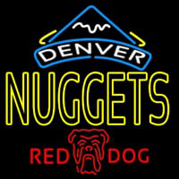 Red Dog Denver Nuggets NBA Beer Sign Neon Sign