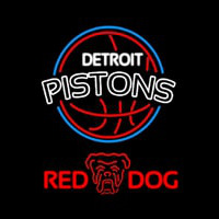 Red Dog Detroit Pistons NBA Beer Sign Neon Sign