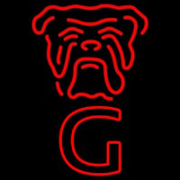 Red Dog Face Vertical Beer Sign Neon Sign