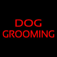 Red Dog Grooming Neon Sign