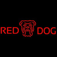 Red Dog Head Logo Beer Sign Neon Sign