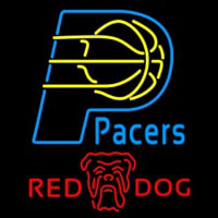 Red Dog Indiana Pacers NBA Beer Sign Neon Sign