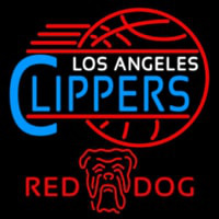 Red Dog Los Angeles Clippers NBA Beer Sign Neon Sign