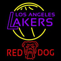 Red Dog Los Angeles Lakers NBA Beer Sign Neon Sign