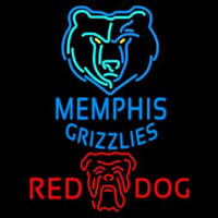 Red Dog Memphis Grizzlies NBA Beer Sign Neon Sign