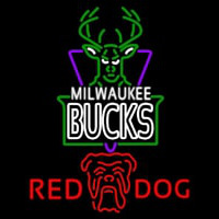 Red Dog Milwaukee Bucks NBA Beer Sign Neon Sign