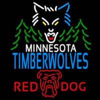 Red Dog Minnesota Timber Wolves NBA Neon Beer Sign Neon Sign