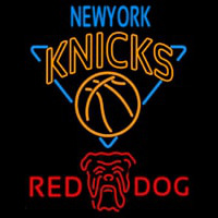 Red Dog New York Knicks NBA Beer Sign Neon Sign