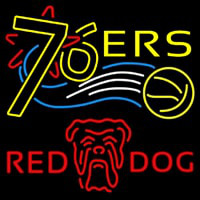 Red Dog Philadelphia 76ers NBA Beer Sign Neon Sign