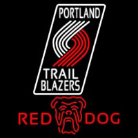 Red Dog Portland Trail Blazers NBA Beer Sign Neon Sign