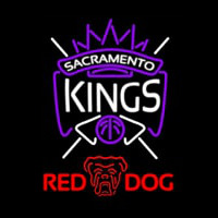 Red Dog Sacramento Kings NBA Beer Sign Neon Sign