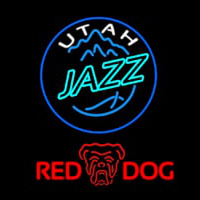 Red Dog Utah Jazz NBA Beer Sign Neon Sign