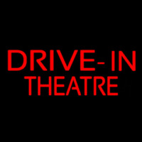 Red Drive In Theatre Neon Sign