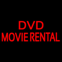 Red Dvd Movie Rental Block Neon Sign