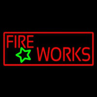 Red Fireworks Neon Sign