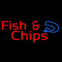 Red Fish And Chips Neon Sign