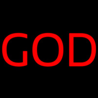 Red God Neon Sign