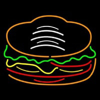 Red Green Burger Logo Neon Sign