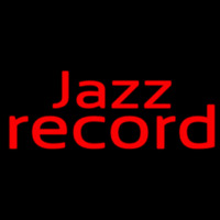 Red Jazz Record 1 Neon Sign