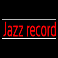 Red Jazz Record White Line 2 Neon Sign