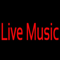 Red Live Music 2 Neon Sign