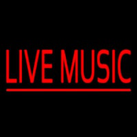 Red Live Music Block Neon Sign