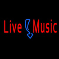 Red Live Music Neon Sign