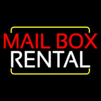 Red Mailbo  Blue Rental Neon Sign