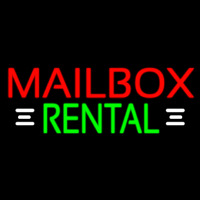Red Mailbo  Rental With White Line 1 Neon Sign