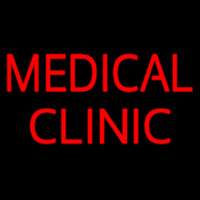 Red Medical Clinic Neon Sign
