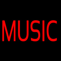 Red Music Block Neon Sign