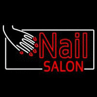 Red Nail Salon Neon Sign