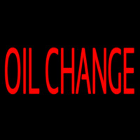 Red Oil Change Neon Sign