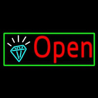 Red Open Diamond Neon Sign